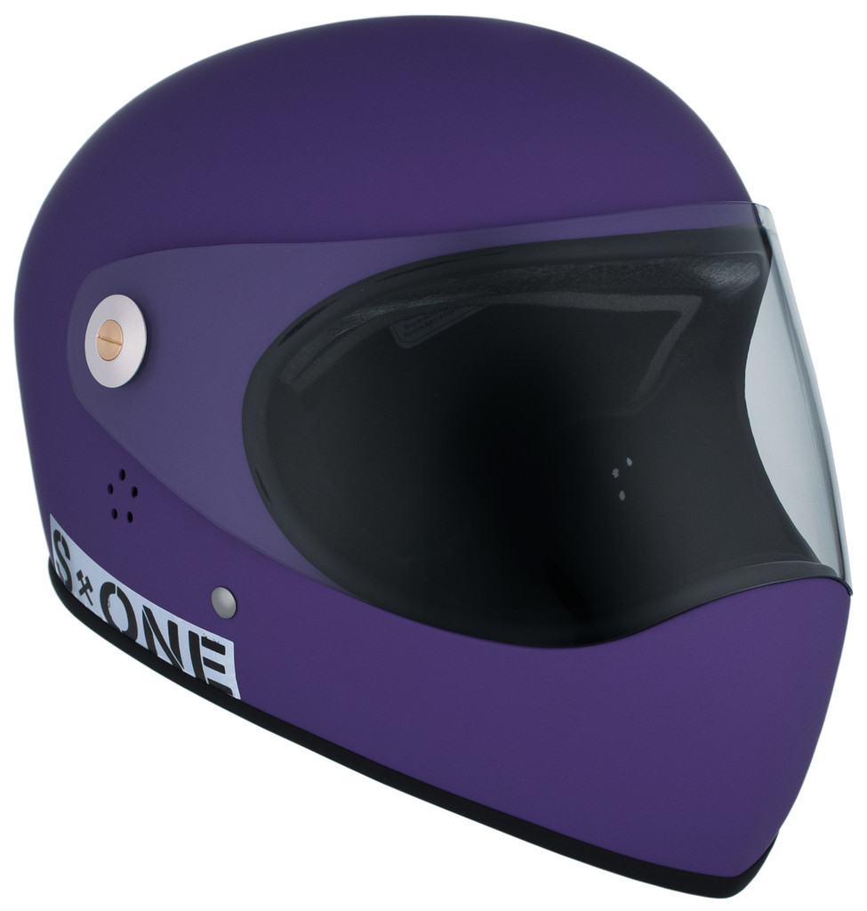 Purple Matte W/ Clear Visor | S1 Lifer Full Face Helmet Specs: • Specially formulated EPS Fusion Foam • Certified Multi-Impact (ASTM) • Certified High Impact (CPSC) • 5x More Protective Than Regular Skate Helmets • Deep Fit Design