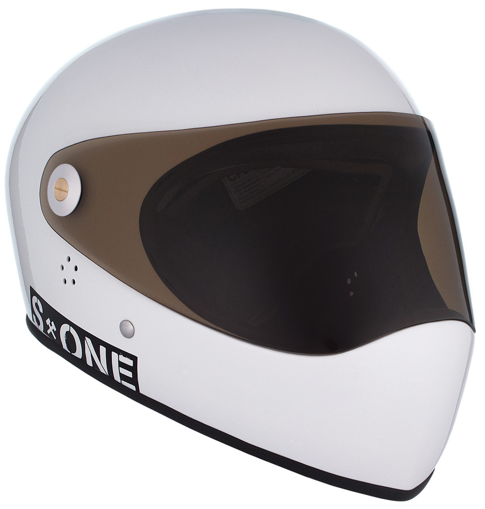 White Gloss W/ Tint Visor | S1 Lifer Full Face Helmet Specs: • Specially formulated EPS Fusion Foam • Certified Multi-Impact (ASTM) • Certified High Impact (CPSC) • 5x More Protective Than Regular Skate Helmets • Deep Fit Design