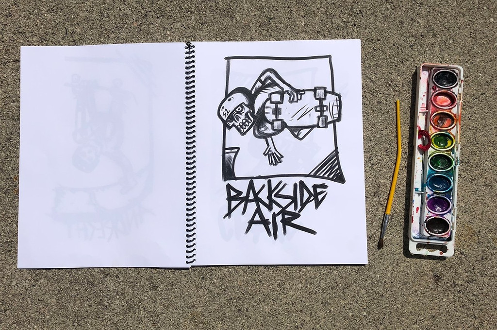 S1 Skateboarding  Tricks A-Z Coloring Book