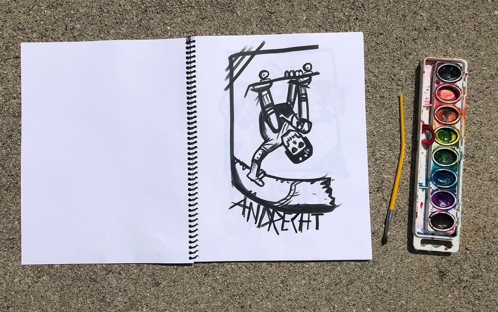 S1 Skateboarding  Tricks A-Z Coloring Book
