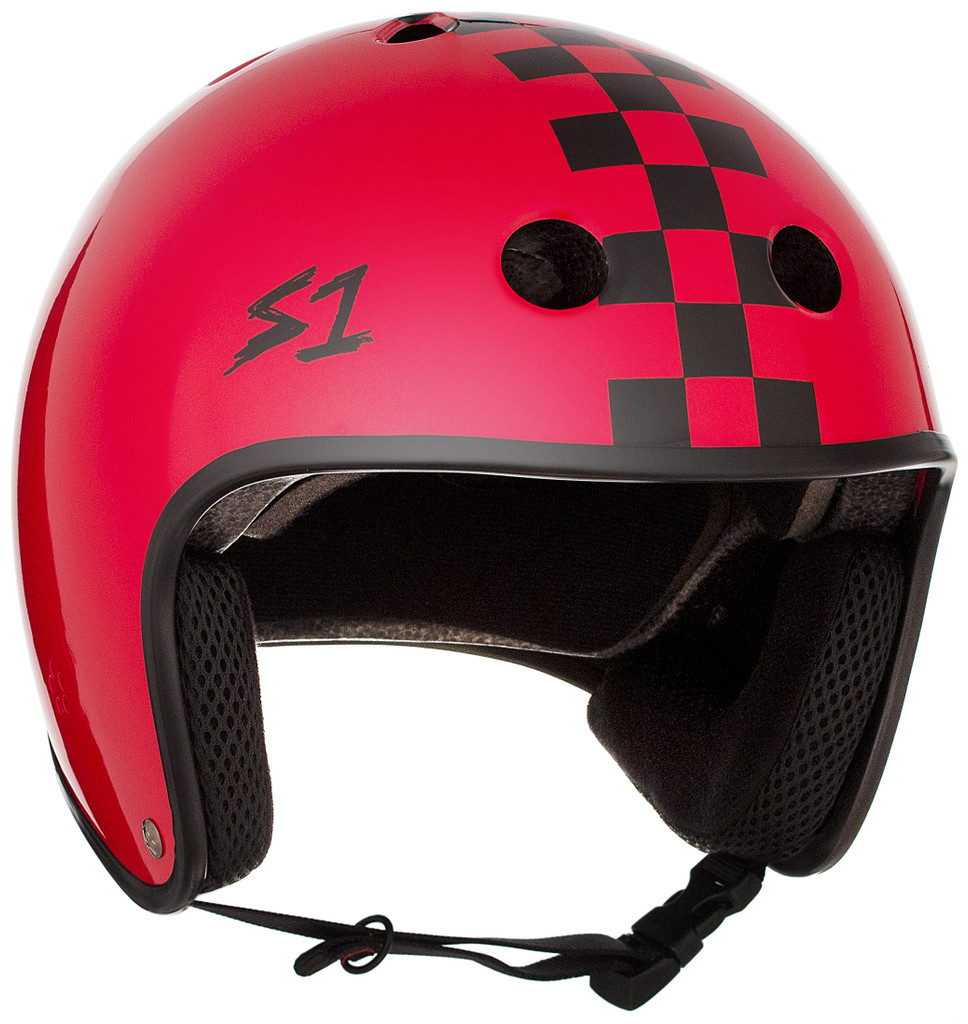 This is a S1 Lifer Helmet with a retro moto helmet look.  Lightweight, Great fit and fully certified for skate and bike ASTM Multiple Impact certified CPSC High Impact certified