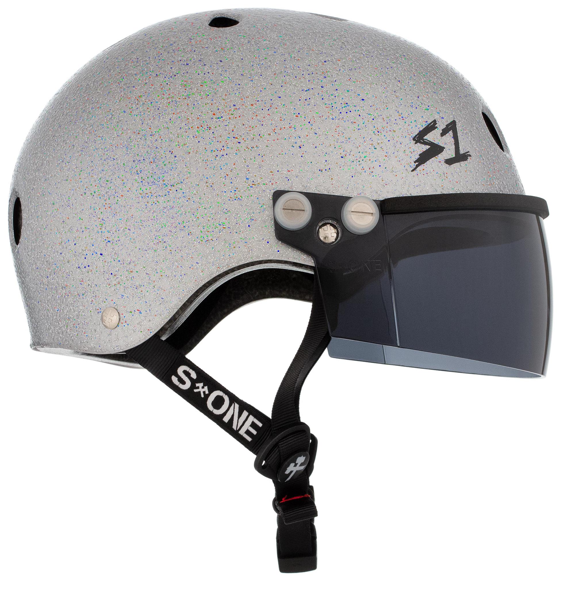 S1 Lifer Visor Gen 2 Helmet Silver Gloss Glitter
