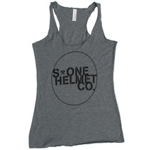 S-ONE Helmet Co. - Seal Logo Racer Back Tank - Heather Grey Triblend
