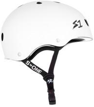 S1 Lifer Helmet - White Gloss w/ Black Stripes
