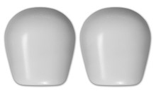 Re- Caps in white gloss designed for the S1 Pro Knee Pad.
