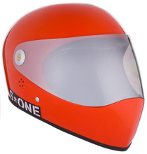 Lava Orange Gloss W/ Mirror Visor | S1 Lifer Full Face Helmet Specs: • Specially formulated EPS Fusion Foam • Certified Multi-Impact (ASTM) • Certified High Impact (CPSC) • 5x More Protective Than Regular Skate Helmets • Deep Fit Design