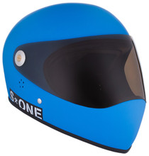 Cyan Matte W/ Tint Visor | S1 Lifer Full Face Helmet Specs: • Specially formulated EPS Fusion Foam • Certified Multi-Impact (ASTM) • Certified High Impact (CPSC) • 5x More Protective Than Regular Skate Helmets • Deep Fit Design