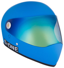 Cyan Matte W/ Iridium Visor | S1 Lifer Full Face Helmet Specs: • Specially formulated EPS Fusion Foam • Certified Multi-Impact (ASTM) • Certified High Impact (CPSC) • 5x More Protective Than Regular Skate Helmets • Deep Fit Design