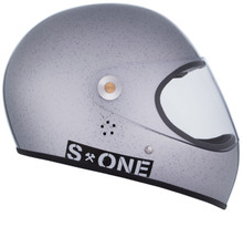 Silver Gloss Glitter W/ Mirror Visor | S1 Lifer Full Face Helmet Specs: • Specially formulated EPS Fusion Foam • Certified Multi-Impact (ASTM) • Certified High Impact (CPSC) • 5x More Protective Than Regular Skate Helmets • Deep Fit Design