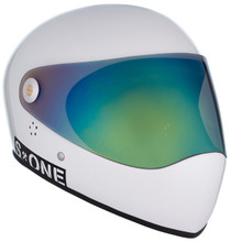 White Gloss W/ Iridium Visor | S1 Lifer Full Face Helmet Specs: • Specially formulated EPS Fusion Foam • Certified Multi-Impact (ASTM) • Certified High Impact (CPSC) • 5x More Protective Than Regular Skate Helmets • Deep Fit Design