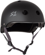 S1 Lifer Helmet - Black Matte w/ Grey Straps