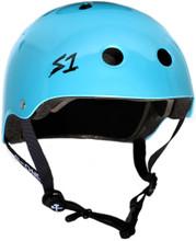 Light Blue Metallic Raymond Warner Scooter Helmet S1 Lifer 3/4 view