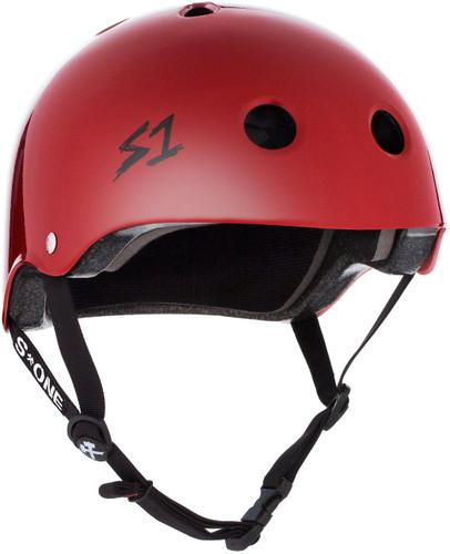 Blood Red Gloss Helmet  BMX Helmet 3/4 view
