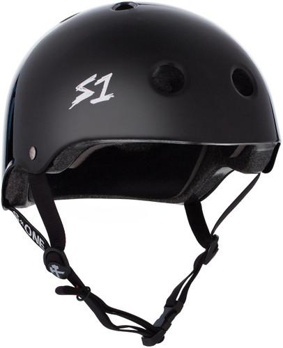 Black Gloss Roller Skate Helmet S1 Lifer 3/4 view