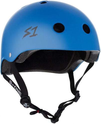 Cyan Matte Scooter Helmet S1 Lifer 3/4 view.