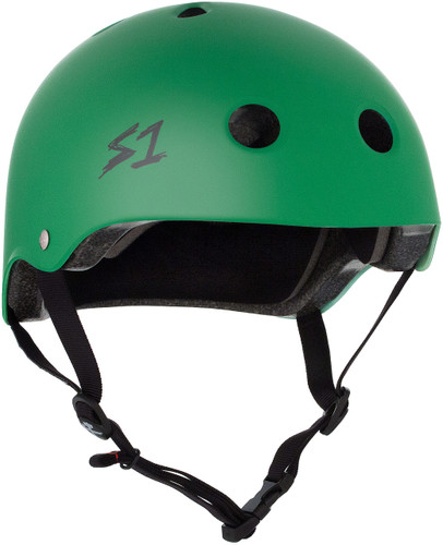 Kelly Green Matte Scooter Helmet S1 Lifer 3/4 view