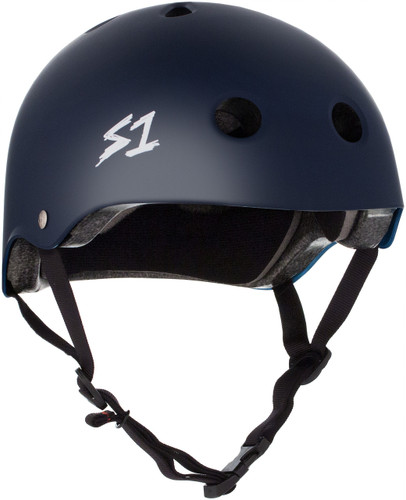 Navy Matte Skateboard Helmet S1 Lifer 3/4 view