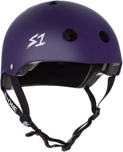 Purple Matte Scooter Helmet S1 Lifer 3/4 view.