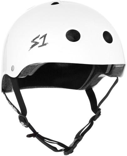 White Gloss Scooter Helmet S1 Lifer 3/4 view.