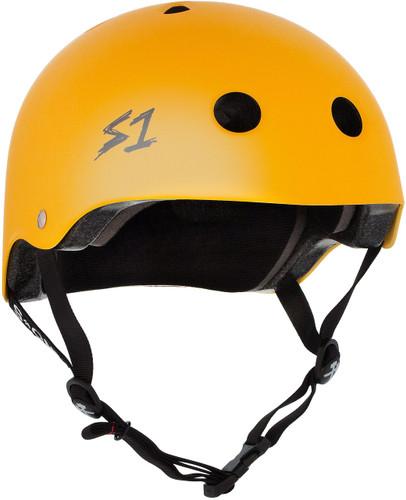 Yellow Matte Roller Skate Helmet S1 Lifer 3/4 view