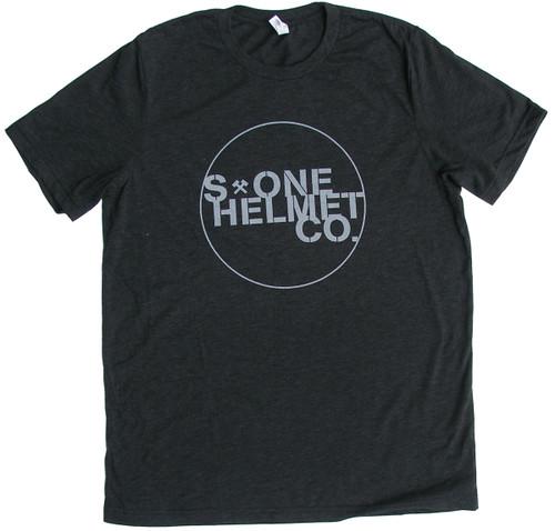 S1 Helmet Co. - Seal Logo T-Shirt - Charcoal Black Triblend