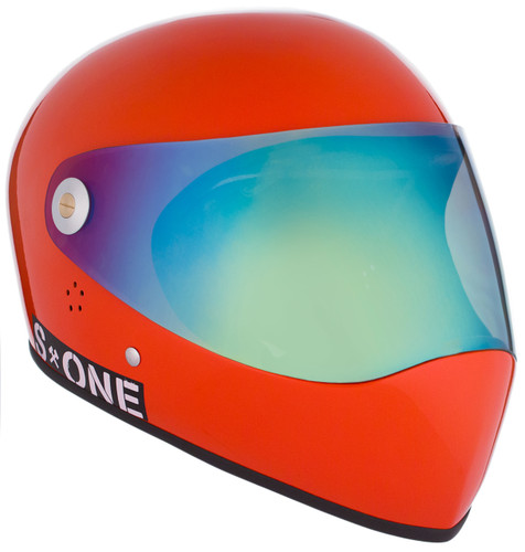 Lava Orange Gloss W/ Iridium Visor | S1 Lifer Full Face Helmet Specs: • Specially formulated EPS Fusion Foam • Certified Multi-Impact (ASTM) • Certified High Impact (CPSC) • 5x More Protective Than Regular Skate Helmets • Deep Fit Design