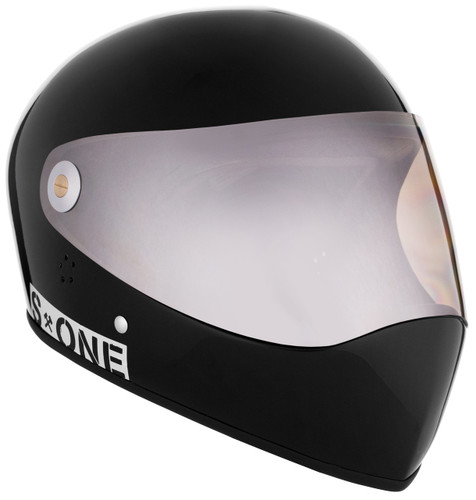 Black Gloss W/ Mirror Visor | S1 Lifer Full Face Helmet Specs: • Specially formulated EPS Fusion Foam • Certified Multi-Impact (ASTM) • Certified High Impact (CPSC) • 5x More Protective Than Regular Skate Helmets • Deep Fit Design