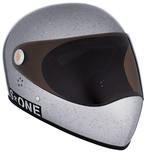 Silver Gloss Glitter W/ Tint Visor | S1 Lifer Full Face Helmet Specs: • Specially formulated EPS Fusion Foam • Certified Multi-Impact (ASTM) • Certified High Impact (CPSC) • 5x More Protective Than Regular Skate Helmets • Deep Fit Design