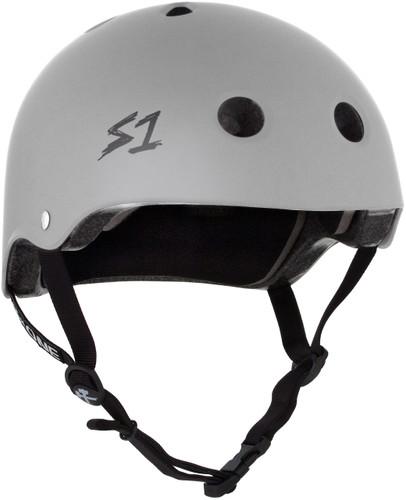 Light Grey Matte Scooter Helmet S1 Lifer 3/4 view