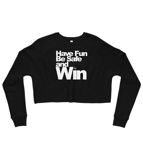 S1 Helmet Co - Have Fun - Crop Sweatshirt - Black