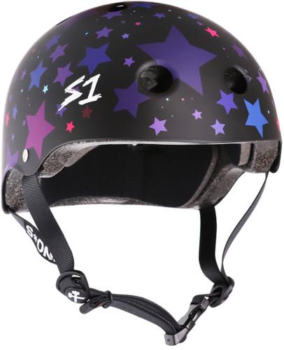 Black Matte Star Roller Skate Helmet S1 Lifer 3/4 view