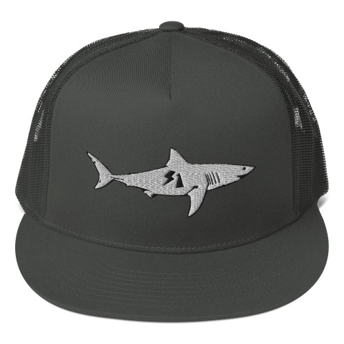 S1 HELMET CO - S1 SHARK - MESH BACK SNAPBACK HAT - CHARCOAL GREY
