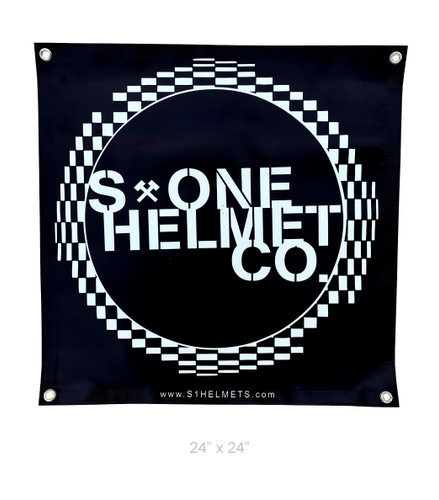 S1 Helmet Co - Circle Checker - 2' x 2' Banner