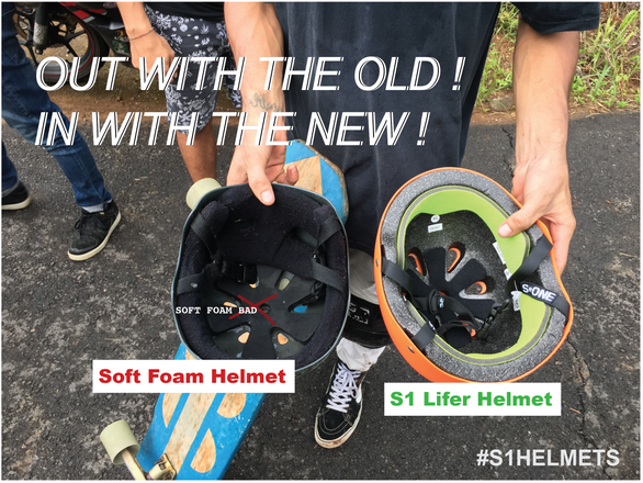 Out with the Old ! In with the S1 Lifer Skate Helmet!