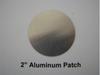"Aluminum Round Patch - 2"" - (CBP002) FRONT OVERHEAD VIEW"
