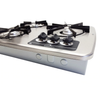 Dometic (Atwood) DV30S Drop-In 3-Burner LP Cooktop - Stainless Steel (07-1011) FRONT ANGLED VIEW