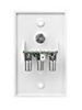 WINEGARD TV OUTLET with EXTRA INPUT - WHITE (24-1005)