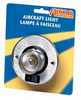 AIRCRAFT-STYLE ROUND SINGLE LIGHT - BRASS (18-2009)
