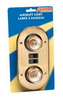 AIRCRAFT-STYLE OVAL DOUBLE LIGHT - BRASS (18-2013)