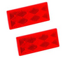 BARGMAN CLASS A REFLEX REFLECTOR, RECTANGULAR - RED (18-3031)