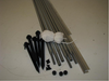 10' Rope and Pole Awning Gold and White (01-5001) INCLUDED HARDWARE FOR INSTALLATION