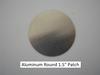 "Aluminum Round Patch - 1.5"" - (CBP039) FRONT OVERHEAD VIEW"