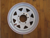 """15"""" x 5"""" Wheel 5 Hole on 5-1/2"""" Bolt Circle (CCH015) FRONT VIEW"""