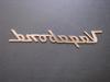"""Vagabond"" Script Nameplate (CHW131) REAR VIEW"