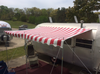 12' Rope and Pole Awning Red and White (01-5006)