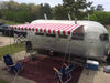 15' Rope and Pole Awning Red and White (01-5007)