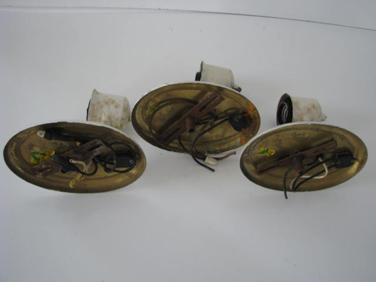 Oval Wall Sconces (Lot of 3) (LT020) ALL 3 ITEMS SHOWN (REAR VIEW)