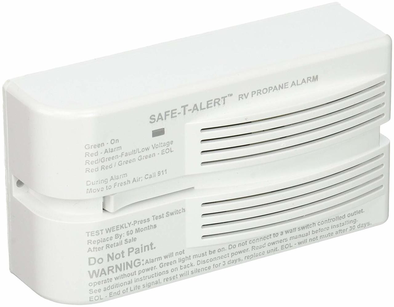 LP LEAK DETECTOR 12V - SURFACE - WHITE - (03-1007) ANGLED FRONT VIEW