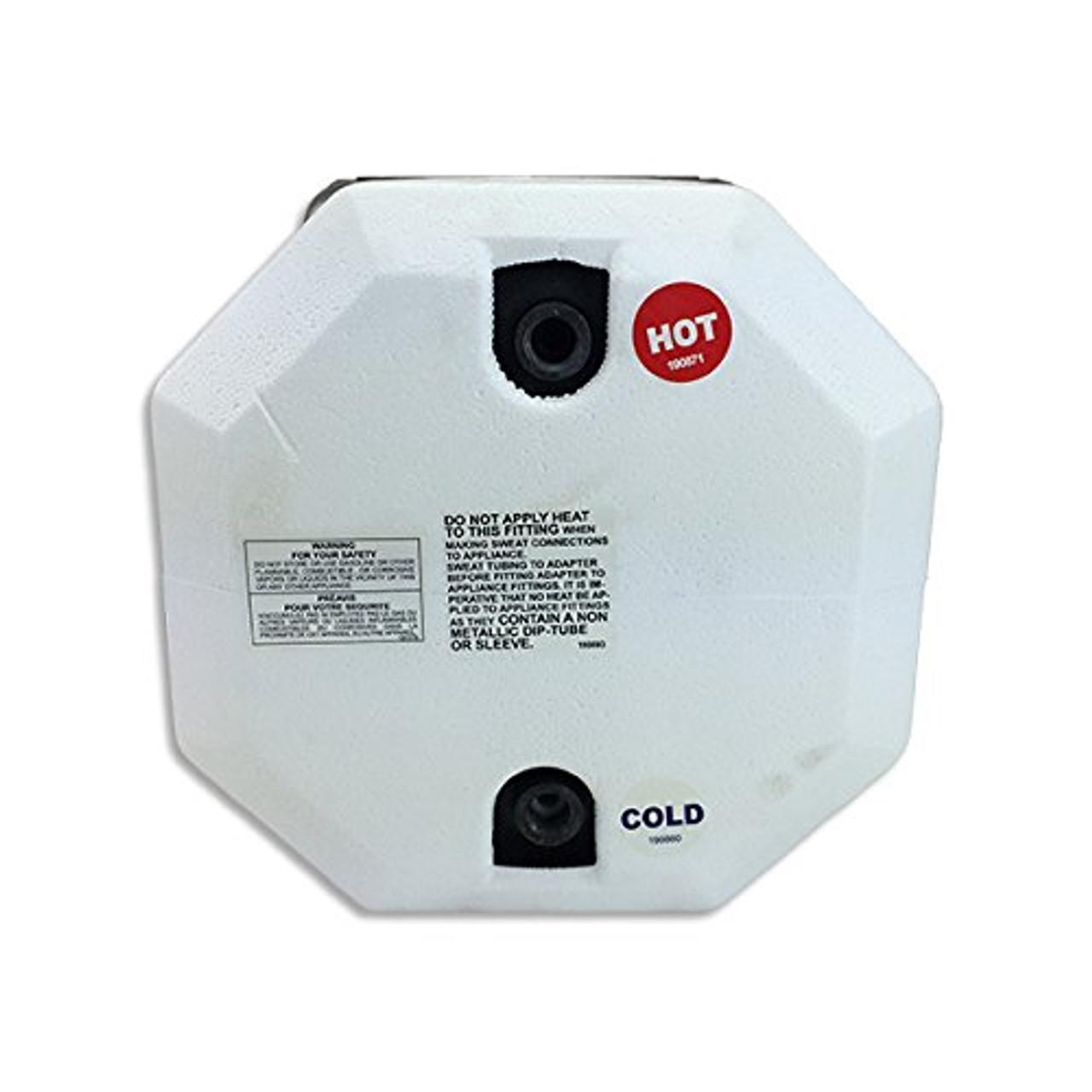SUBURBAN WATER HEATER-6 GAL. GAS/PILOT (09-1004) REAR VIEW