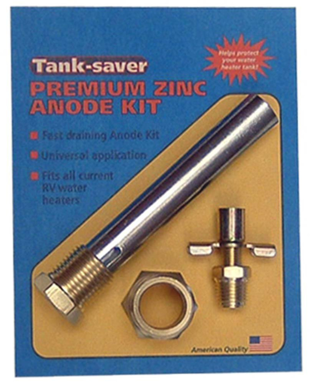 TANK SAVER ANODE (09-1013) Product Shown In Retail Packaging